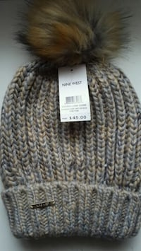 gray and brown bobble beanie Westminster, 92683
