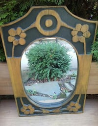 brown wooden framed wall mirror Byron, 14422