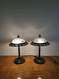 two black-and-white table lamps Burlington, L7R 3K2