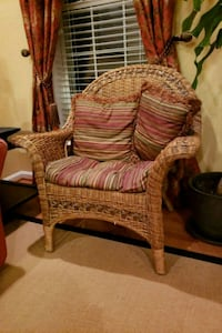 Wooden Chair w/ cushion #1 44 km