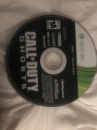 Call of Duty Ghosts Xbox 360 game disc Longview, 75605