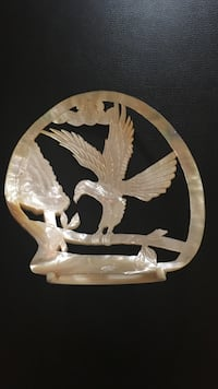 Mother of Pearl Hand-Carved Eagle in Perfect Condition. Over 20 years old.  Reston, 20191