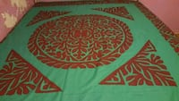 Hand made queen bedsheet rilli/applique wotk Toronto, M1G 2C7