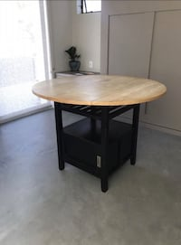 """Sell  By 5pm- 48"""" Crate and Barrel Bar Table 2276 mi"""