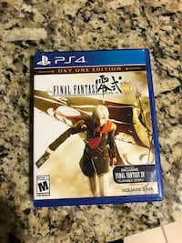 Sony ps4 final fantasy game
