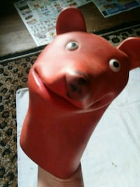 Vintage rubber hand puppet