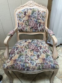 white and brown floral padded armchair El Paso, 79912