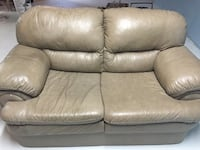 beige leather loveseat Grimsby, L3M 4A9