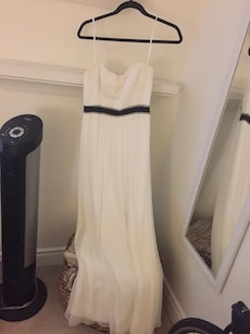 Beautiful white gown wore it once for prom originally $300