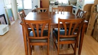 brown wooden dining table set Manassas Park, 20111