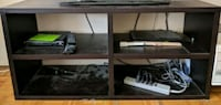 black and white wooden TV stand Vancouver, V6H 1K8