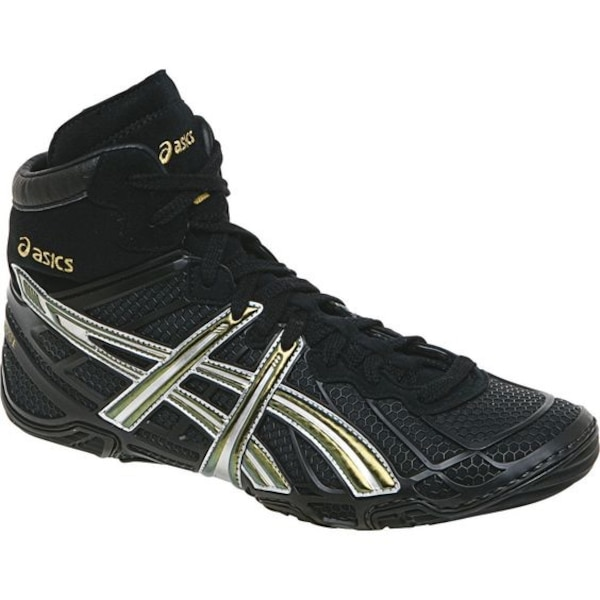 ffa86534ed9 Used Asics Dan Gable Ultimate Wrestling Shoes size 10.5 Brand New  Black Champion Silver for sale in Commack
