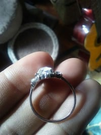 silver and diamond solitaire ring White Rock, V4B 4N9