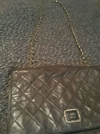 quilted black leather crossbody bag Brooklyn, 11213