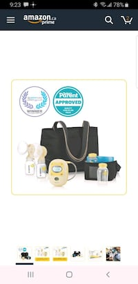 Medela Double Electric Breast Pump & Accessories Sherwood Park, T6P