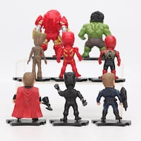 8pcs Set Marvel Toys 8-10cm With Avengers Endgame Pickering