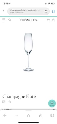 Tiffany & Co  champagne flutes - set of 2