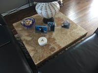 Large Handmade Rug, Large Marble Coffee Table and Marble End Table Northbrook