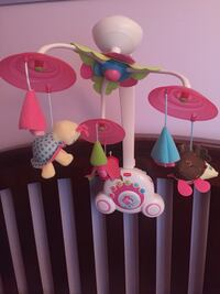 Euc. baby girl mobile ... comes with batteries.