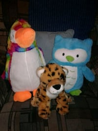 3 LIKE NEW STUFFED ANIMALS  Manteca