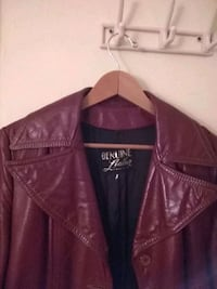 red leather zip-up jacket Tonopah, 89049