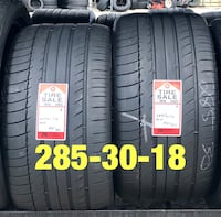 2 used tires 285/30/18 Michelin PS Houston, 77047