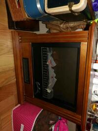 black and brown electric fireplace Topeka, 66617