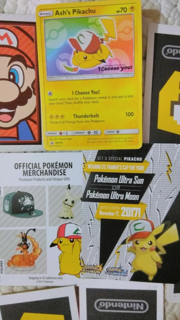 Used Hat Pikachu Pokemon Card And Qr Code For Sale In Hollywood Letgo