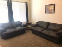 Brown Leather Couch and Loveseat Washington