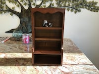 """Vintage dark solid wood shelf great condition measures 18"""" tall x 10"""" wide  West Islip, 11795"""
