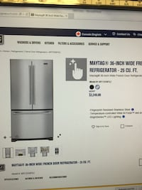 """Refrigerator 36"""" Maytag inox, acheter September 2017 excellent condition  Laval, H7G 1S9"""