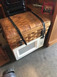 Mid century Basket Multi use Excellent includes microwave