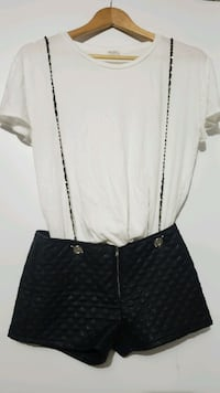 Spectacular leather shorts with overall.straps Toronto, M3C 3R6