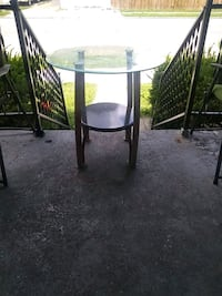 Glass round table for out side....