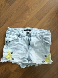 blue notes shorts embroidered