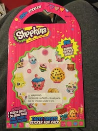 Shopkins tasty treats sticker fun pack= new York, 17403
