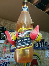 Bar man cave collectable beer bottle