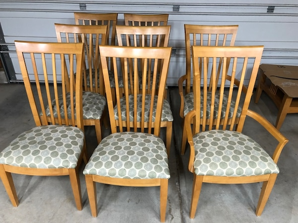 Used 8 Maple Dining Chairs For Sale In San Jose