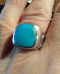 Turquiose Sterling silver Ring Size 7 Frametown, 26623