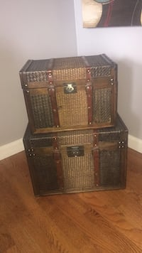 Wooden chests with leather straps ( price firm) Sykesville, 21784