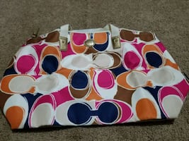 Coach overnight bag with pouch