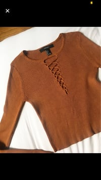 Forever21 Dark Orange Long Sleeve (Sz L) Toronto, M6A 2T9