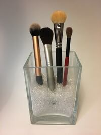 Make up brushes holder with beads. Brushes are not included.
