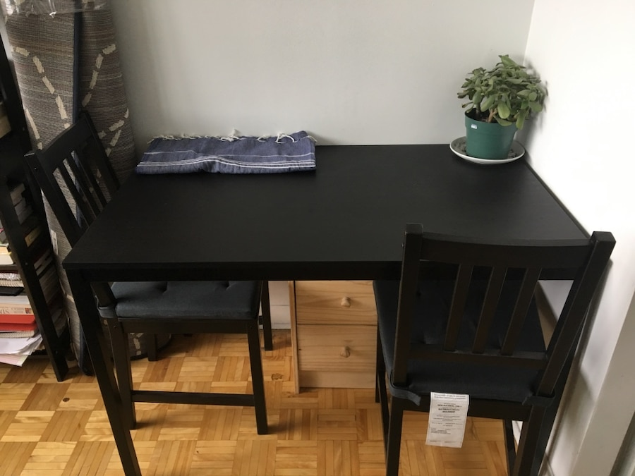 Used ikea tarendo table stefan chairs for sale in montréal letgo