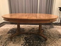 rectangular brown wooden coffee table Ashburn
