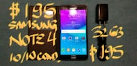 SAMSUNG NOTE 4 32GB 10/10condition+chargerFirm$195 Pointe-Claire, H9R 3A3