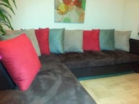 Brown sectional sofa -Delivery for $25 The price is firm