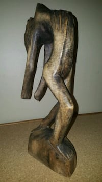 """Carved Wooden Statuette   15"""" tall  Pick up in Edm"""
