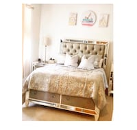 Mirrored bed frame and Dessers - BEST OFFER Hayward