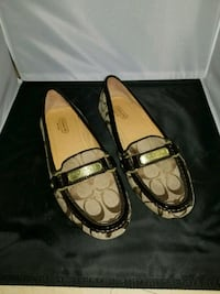 Pair of Brown leather flats Coach Loafers  Alexandria, 22311